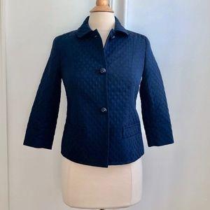 Talbots Navy Blue Blazer Jacket Petite 4 4P Small